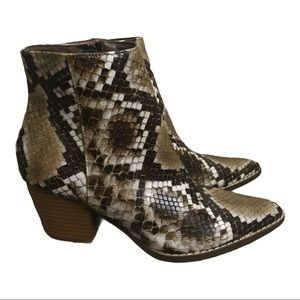 Coconuts by Matisse Snake Print Boots